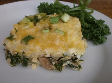 Kale Egg Casserole Slice