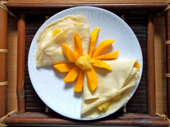 Mango Pineapple Crepes