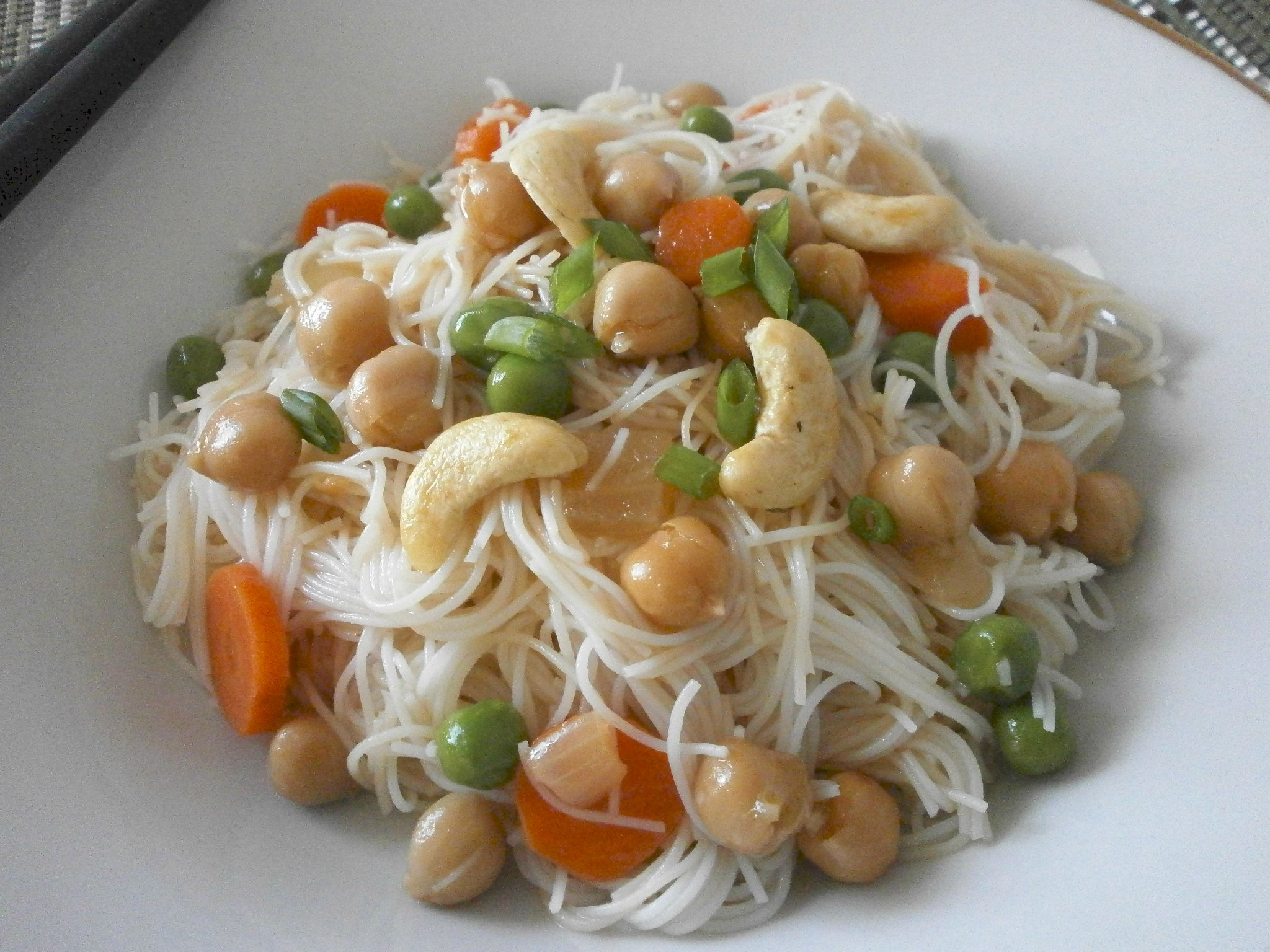 Vegetable Noodle Stir Fry with Chickpeas or Tofu | Swirls and Spice