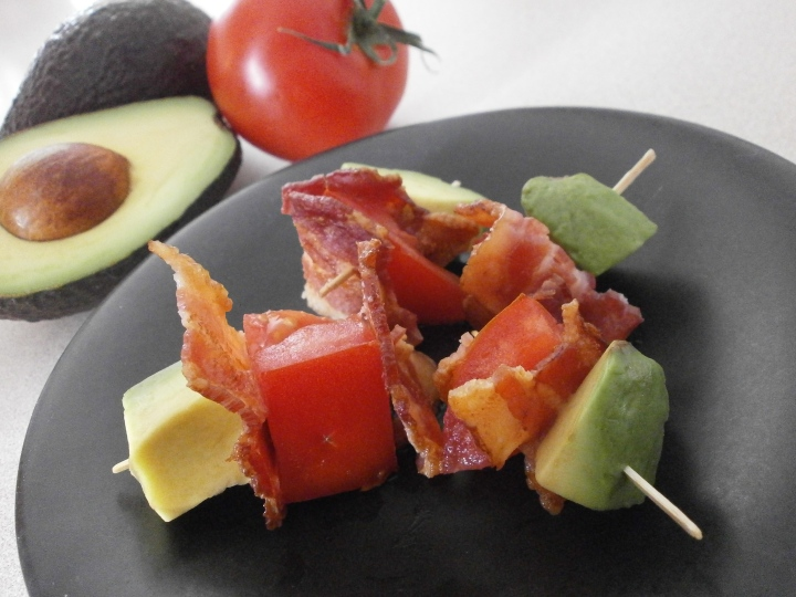 Bacon, Avocado, Tomato Kebabs