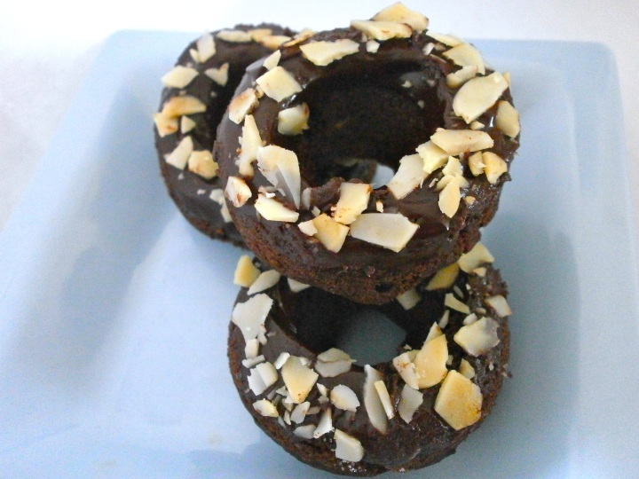 Nutty Chocolate Donuts