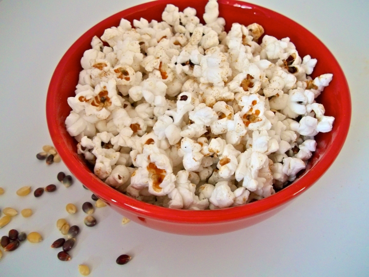 Red Bowl of Popcorn