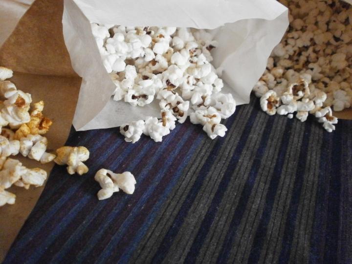 Popcorn in 3 versions