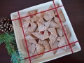 Folded Pinwheel Cookies on a Plate
