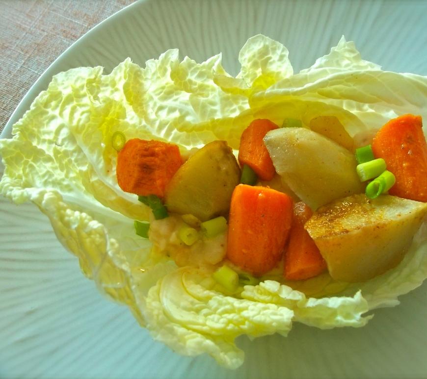 Sothwest Vegetable and White Bean Wraps