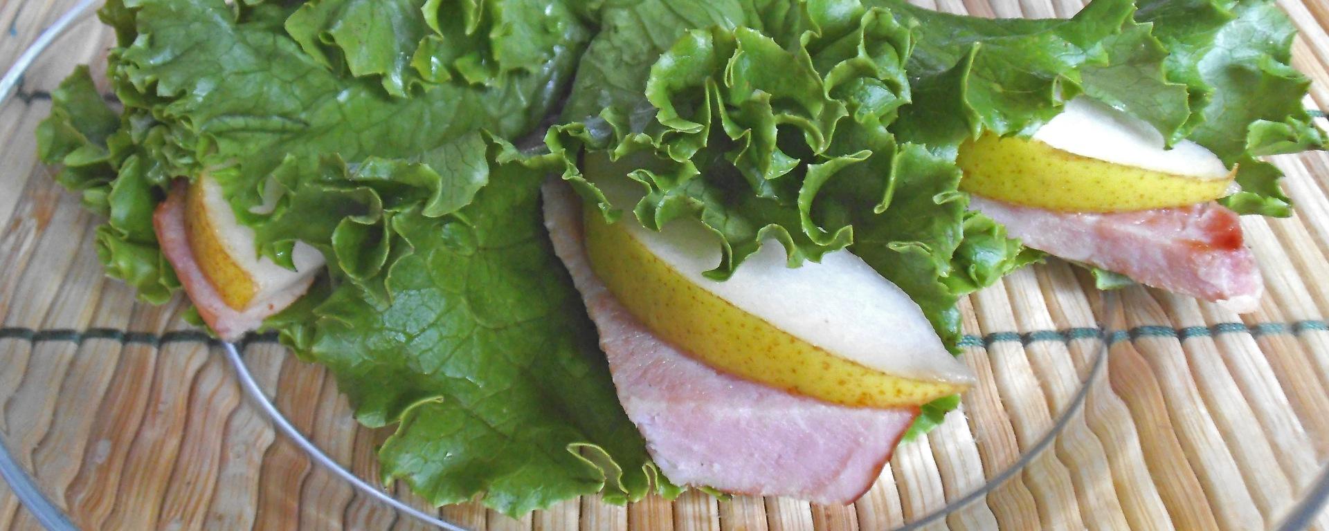 Ham & Pear Lettuce Wraps