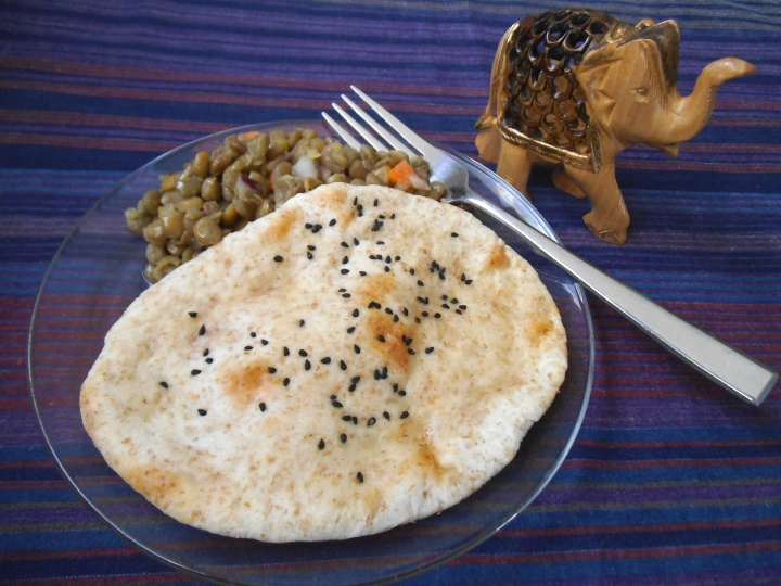Dairy-Free Naan Bread with Kalonji Seeds