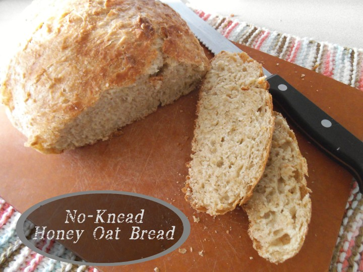 No-Knead Honey Oat Bread