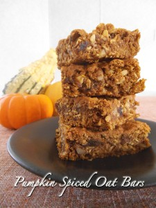 Dairy Free Oat Bars with Pumpkin, Spelt Four, and Dates