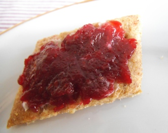 Hard Tack with Jam