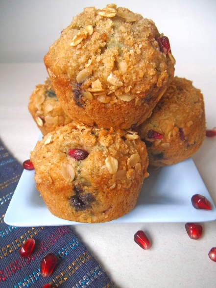 Blueberry Pomegranate Muffins