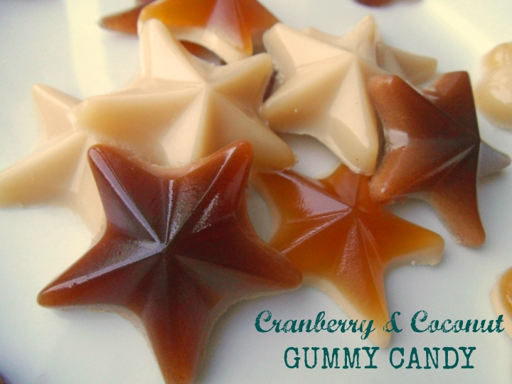 Gummy Candy with Cranberry Juice & Coconut Milk