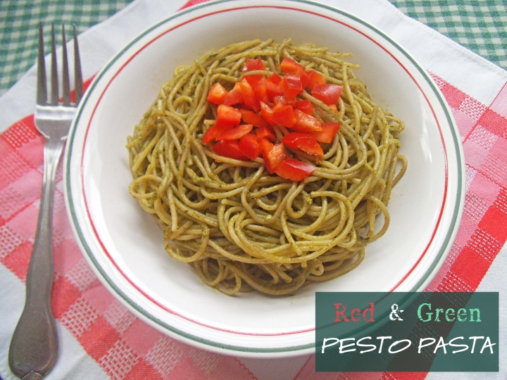 Red and Green Pesto Pasta