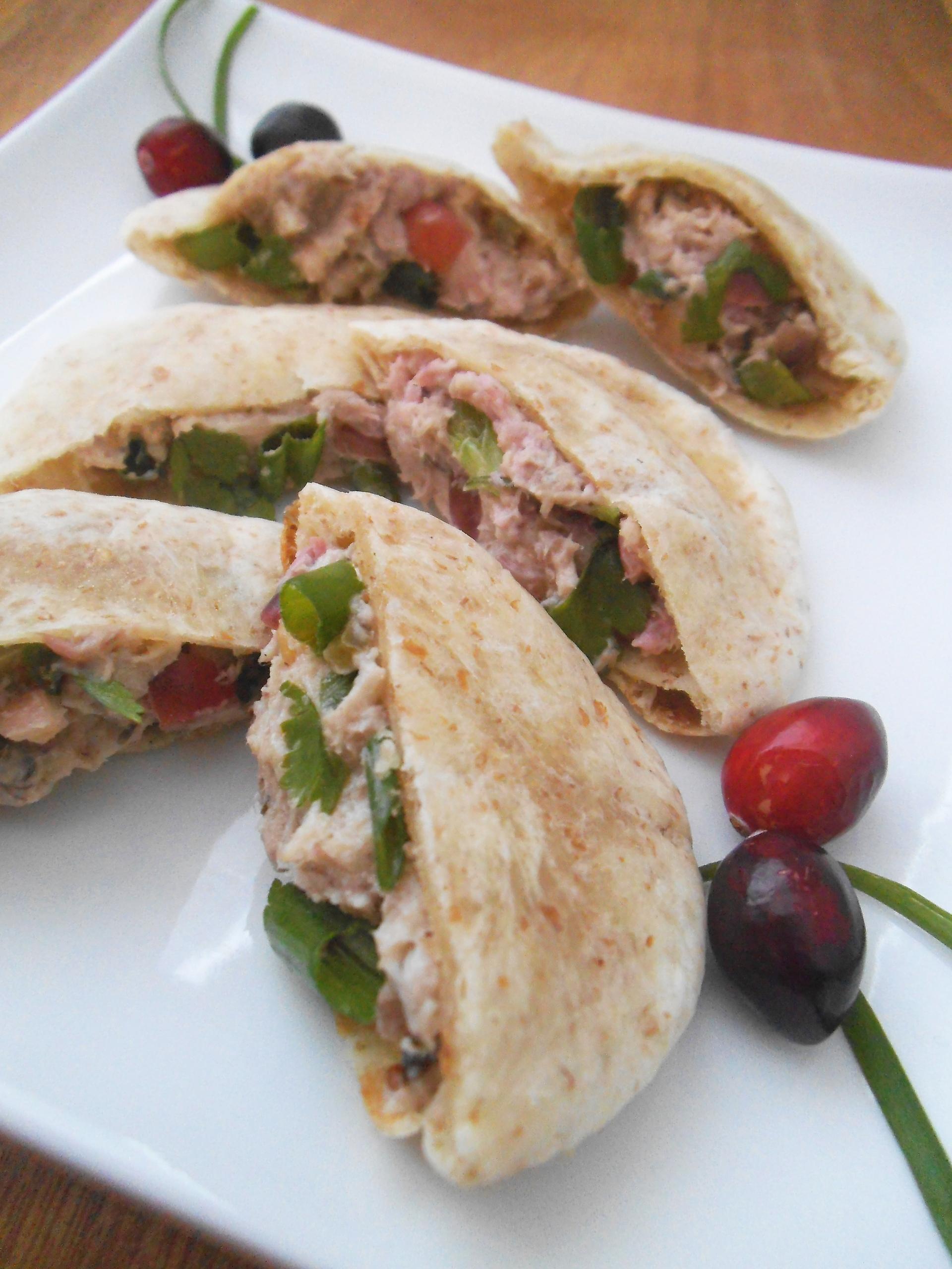 Cranberry Chicken Salad Mini Pitas