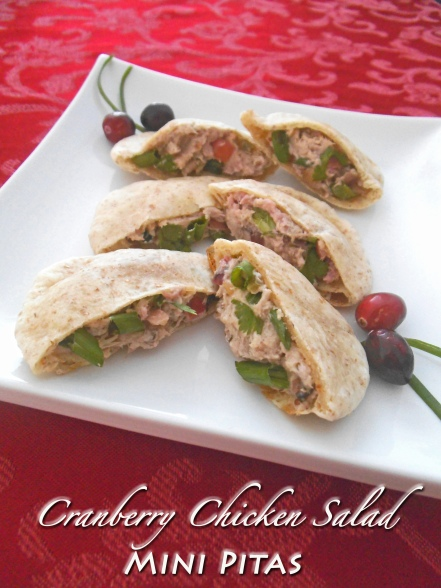 Cranberry Chicken Salad Mini Pitas