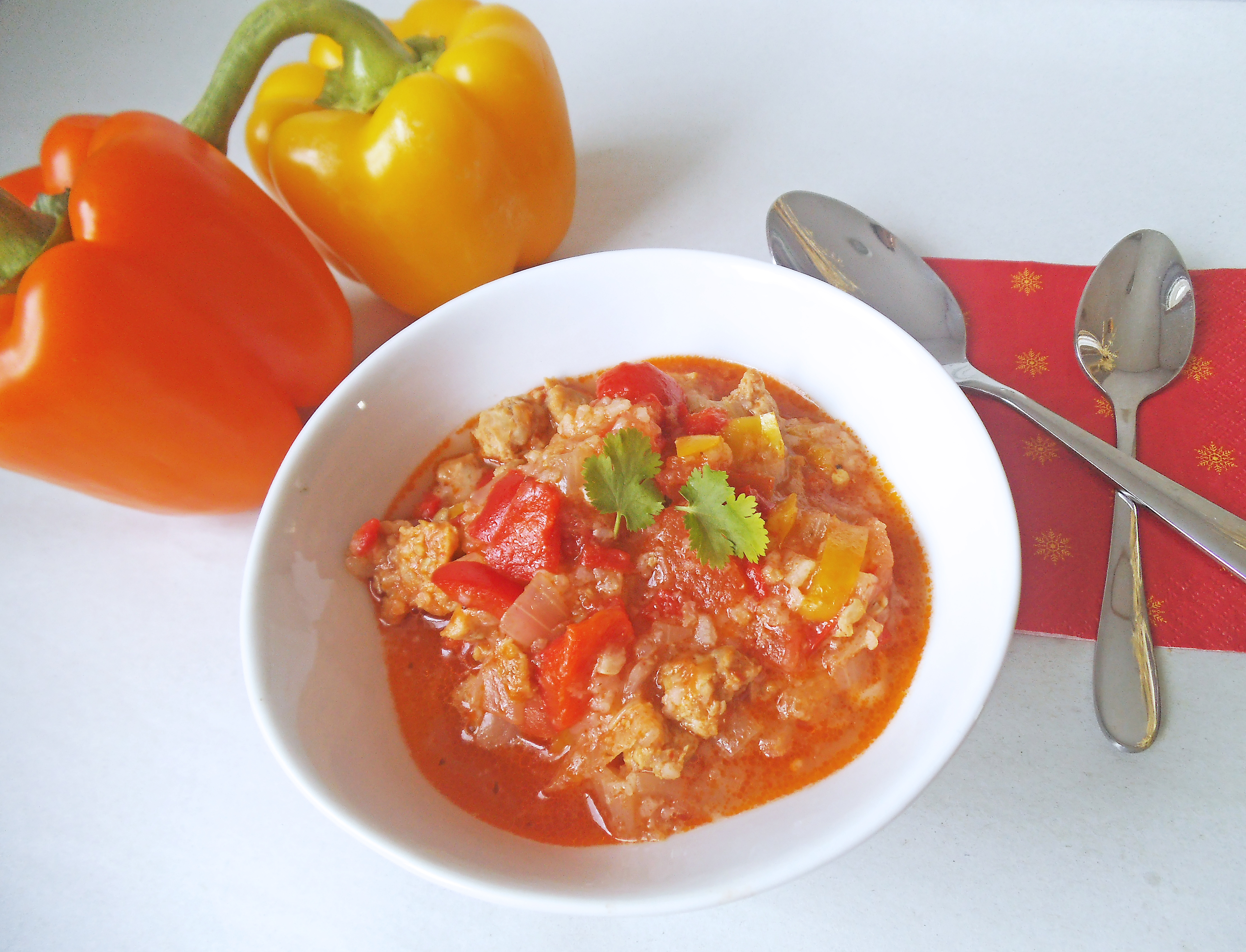 Simple Stuffed Pepper Soup | Swirls and Spice