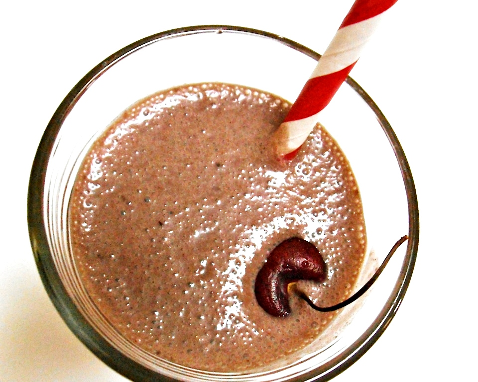 Cherry Chocolate Chai Smoothie | Swirls and Spice