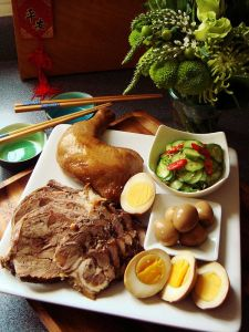 Soy Sauce Marinated Meat & Eggs