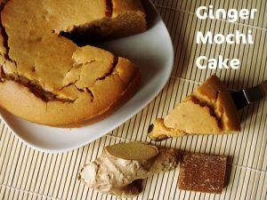 Ginger Mochi Cake