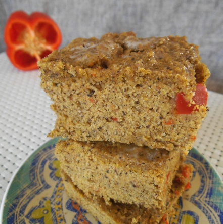 Gluten Free Vegetable Cornbread Square
