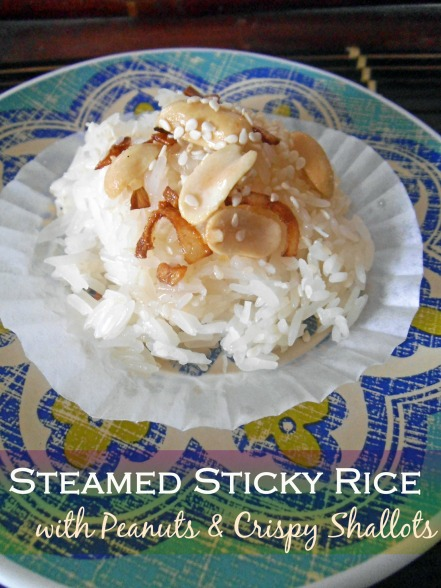 Sweet and Savoury Sticky Rice Steamed in the Rice Cooker