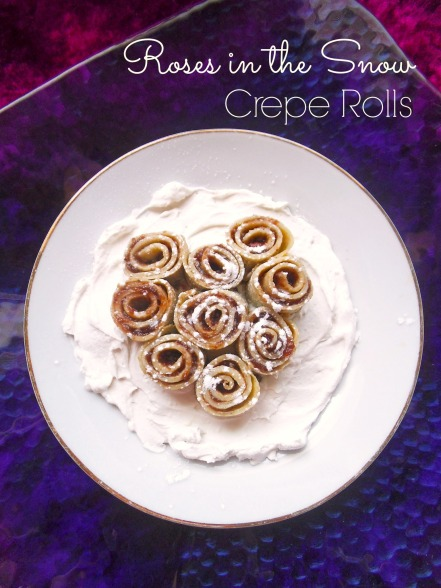 Rosette Crepes atop Whipped Coconut Cream