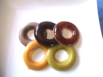 Olympic Rings Gummy Candy in 5 Natural Colours