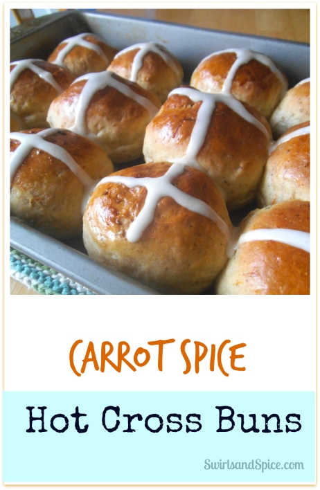 Carrot Spice Hot Cross Buns