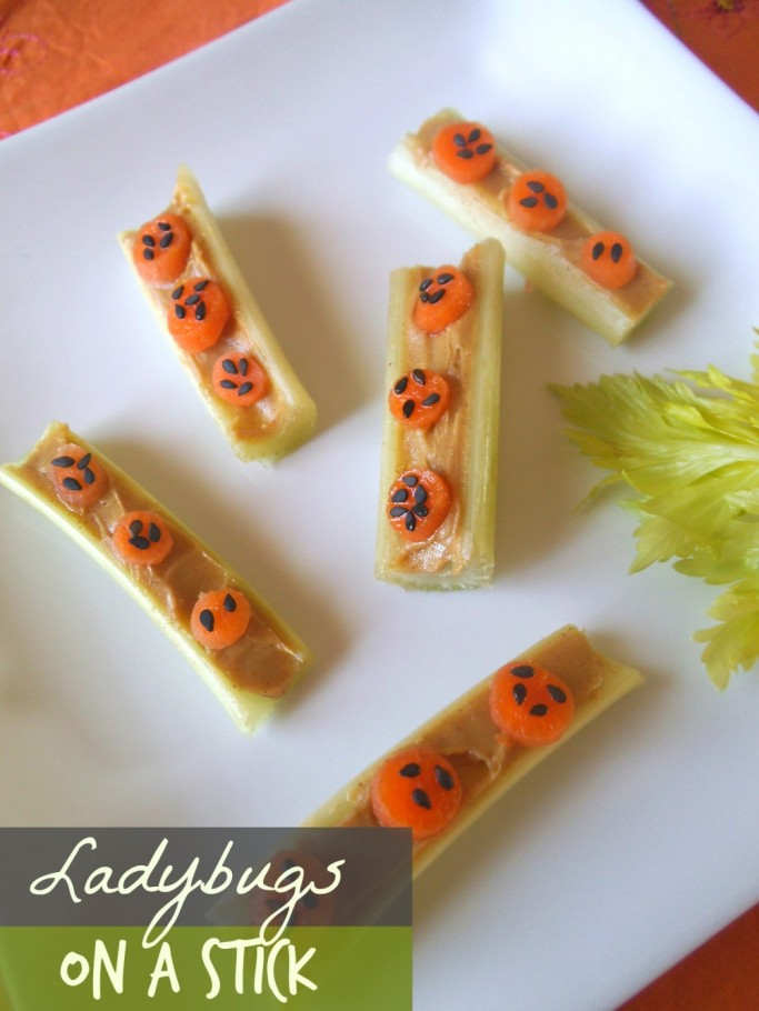 Carrot Ladybugs on a Celery Stick