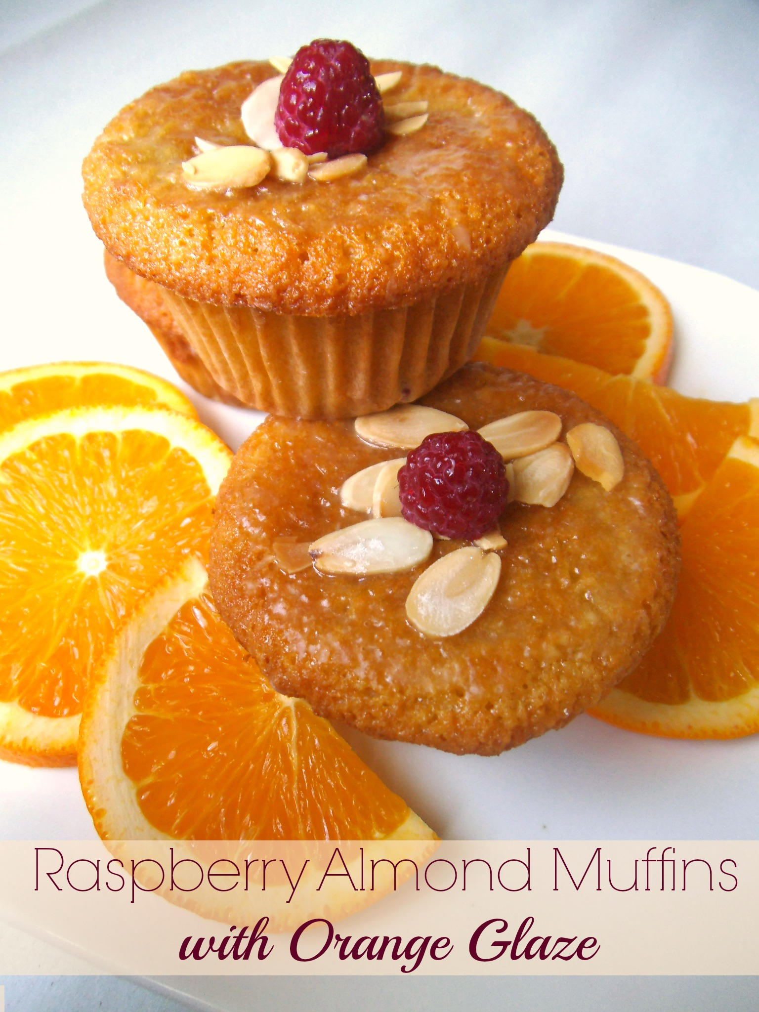Raspberry Almond Muffins (or Cupcakes) with Orange Glaze ...