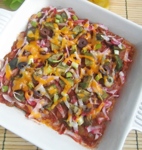 Skinny Mexican Lasagna - Gluten Free