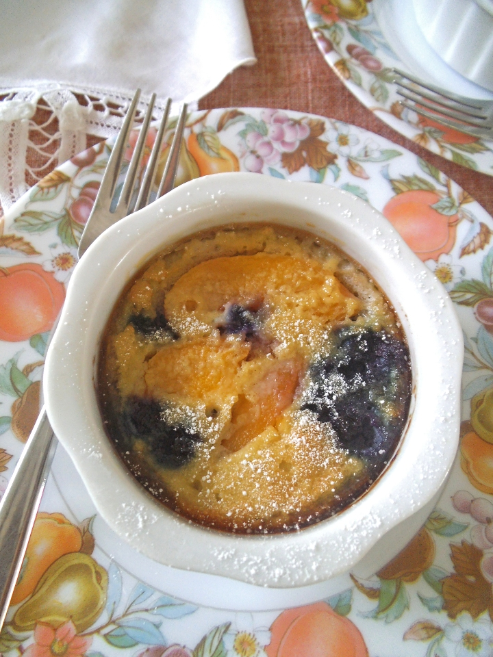 Grain Free Blueberry Peach Clafoutis