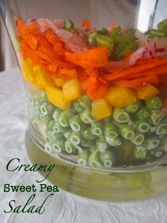 Creamy Layered Sweet Pea Salad