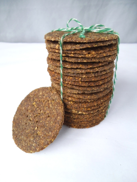 Buckwheat Crackers made with Lentils