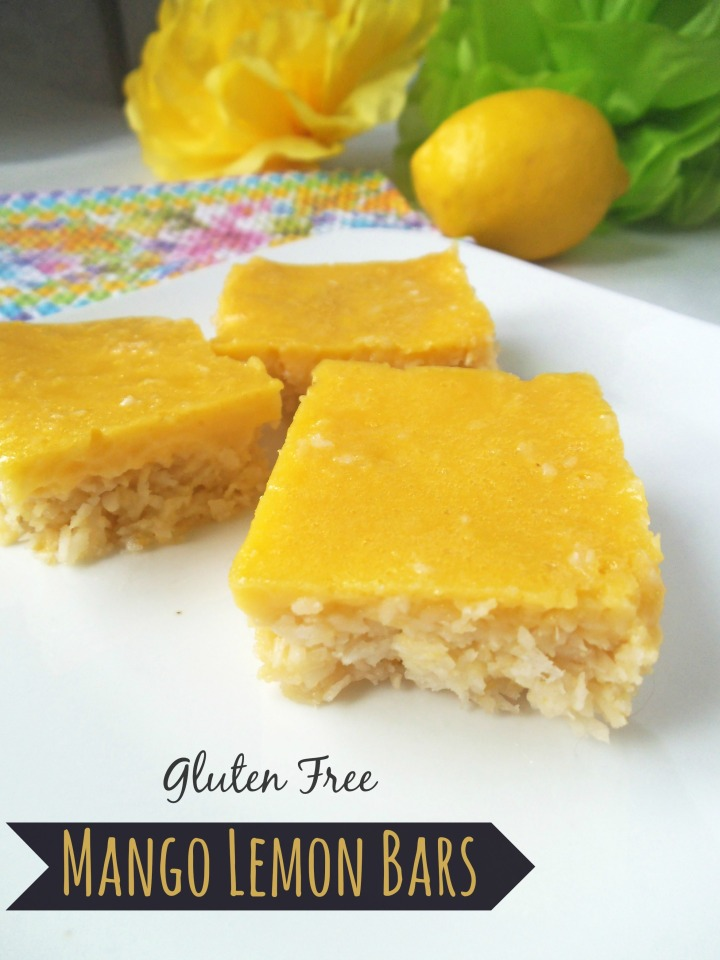 Mango Lemon Bars - Gluten Free