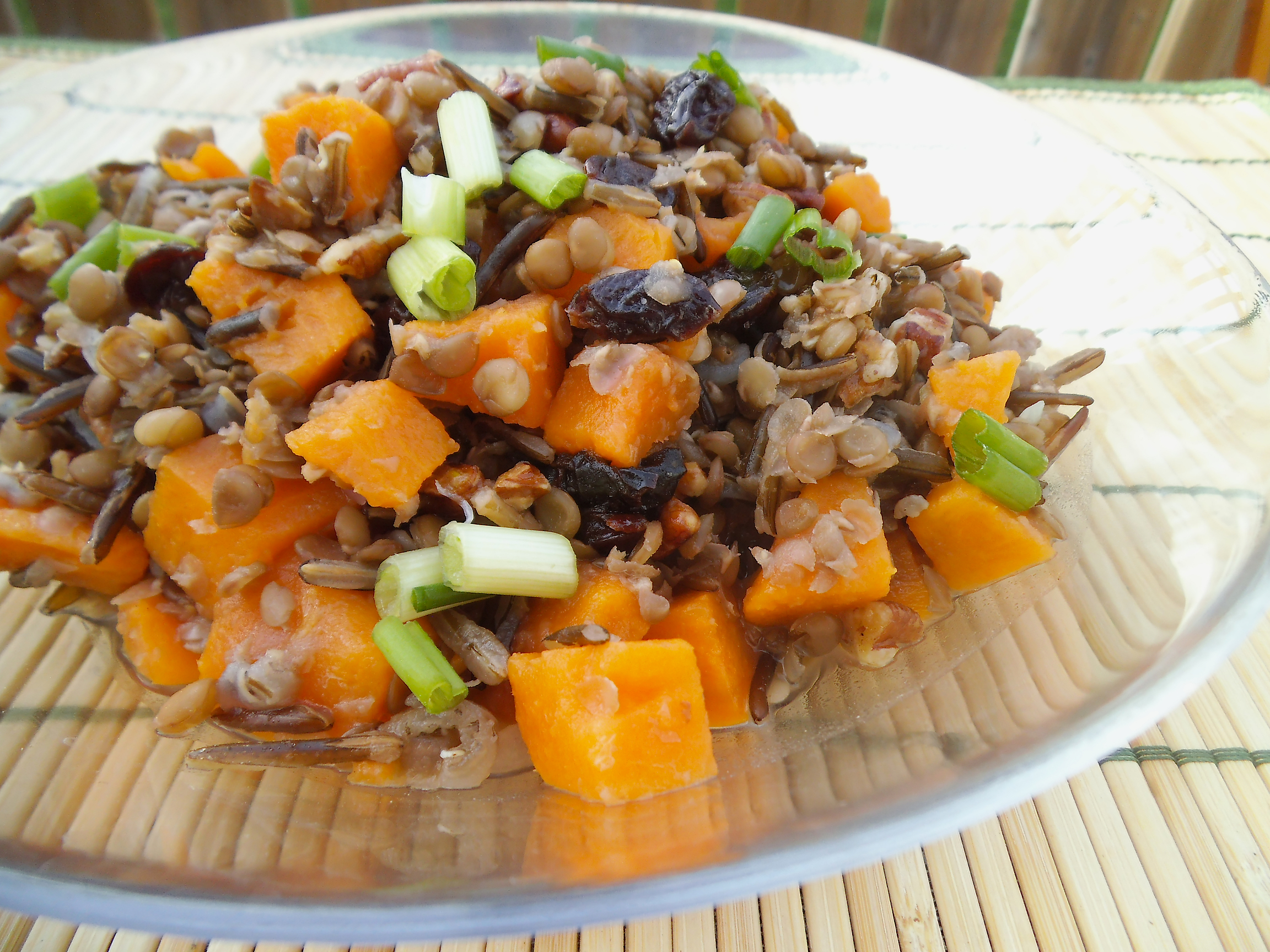 ... with Lentils, Wild Rice, and Orange Pecan Dressing | Swirls and Spice