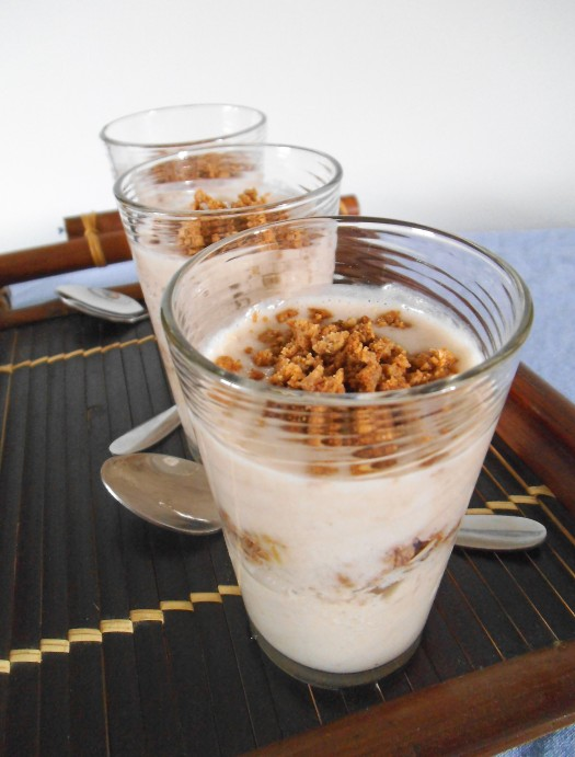 Banana Parfaits with Peanut Butter Streusel