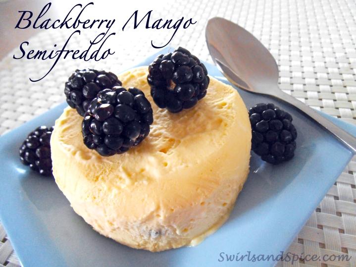 Mango Semifreddo with Blackberries