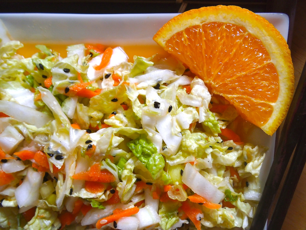 Sesame Orange Napa Cabbage Salad