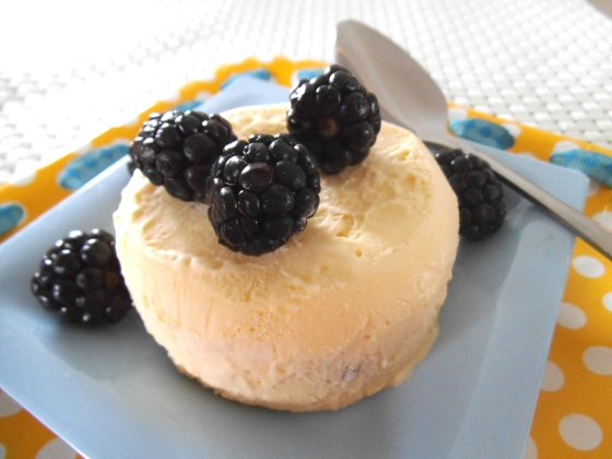 Mango Semifreddo with Blackberries