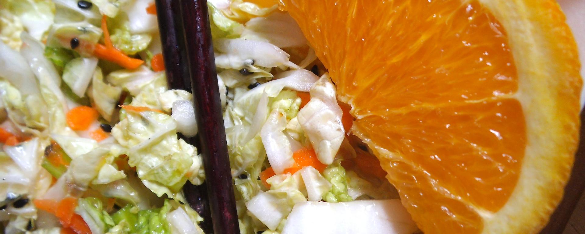 Napa Salad with Sesame Orange Dressing