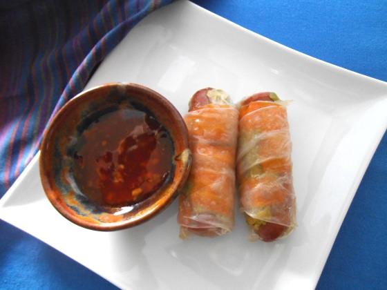 Gluten-Free Pigs in Rice Wrappers