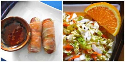 Gluten-Free Pigs in a Blanket + Napa Cabbage Salad