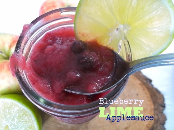 Blueberry Lime Applesauce with Ginger