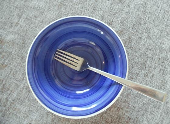 Fork and bowl to mash banana