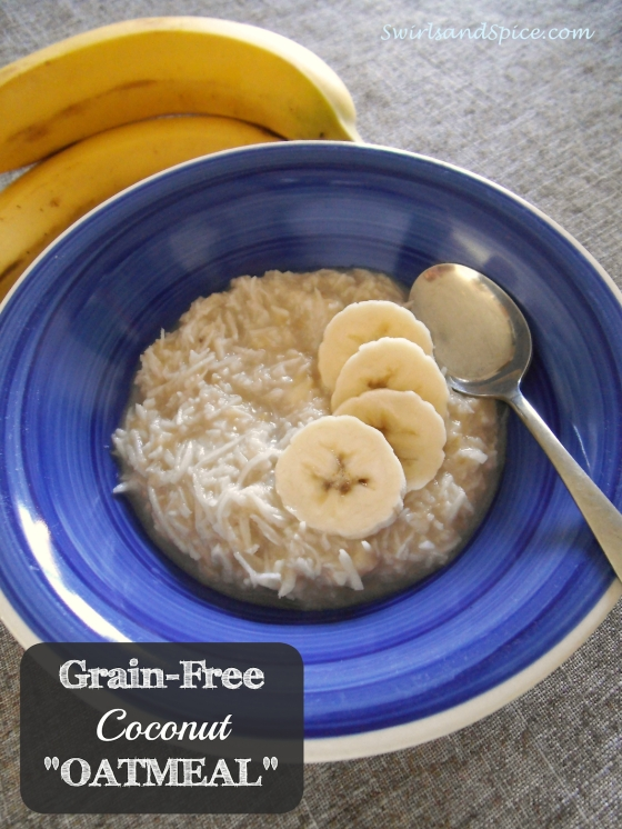 """Grain-Free """"Oatmeal"""" Made from Coconut Shreds"""