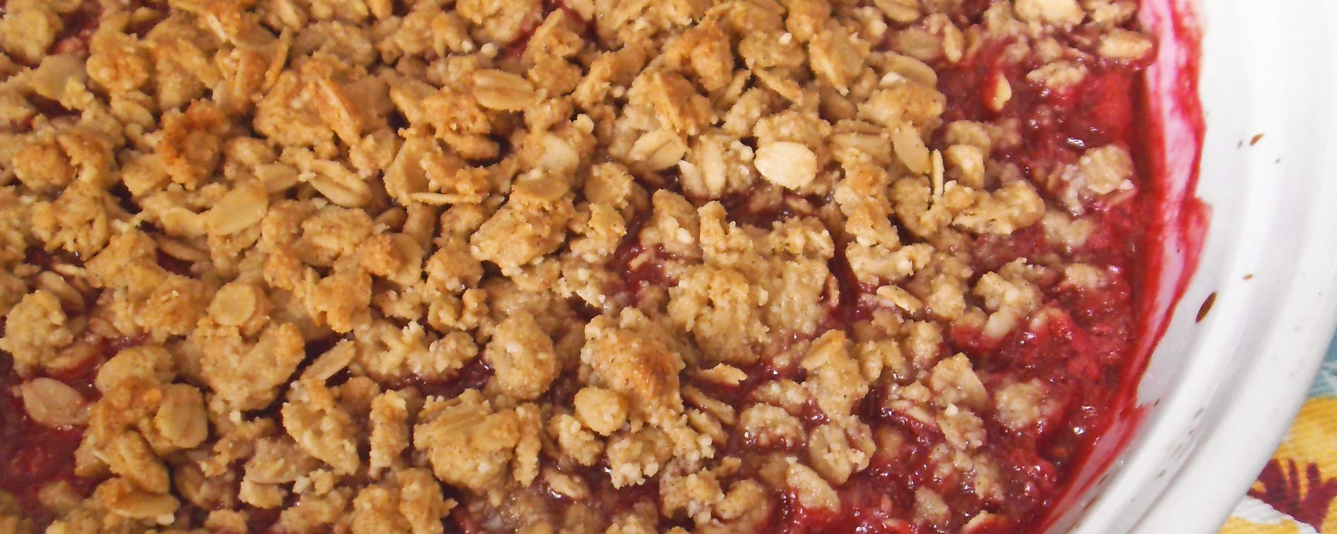 Raspberry Rhubarb Apple Crisp {gluten free} | Swirls and Spice
