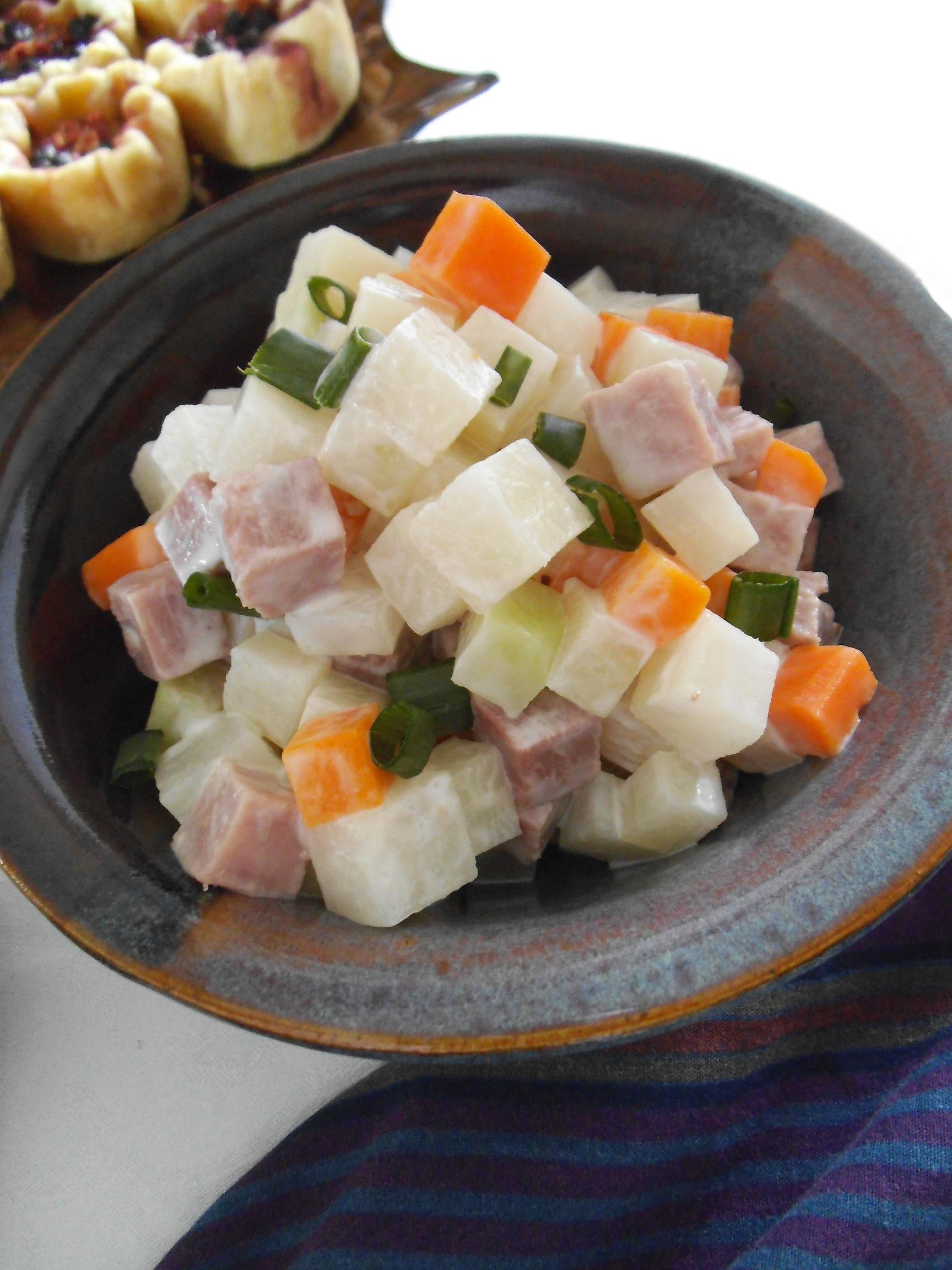 Kohlrabi Cube Salad