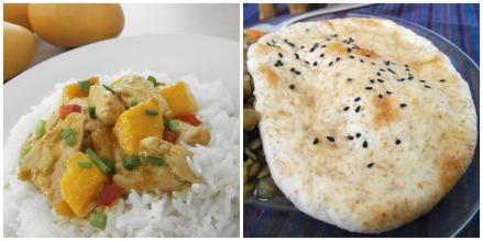 Mango Chicken Curry + Naan Bread (dairy-free)