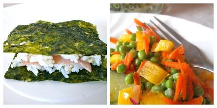 Ham Musubi + Creamy Pea Salad (gluten-free)